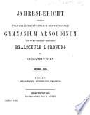 Jahres-Bericht über das Evangelische Fürstlich-Bentheimsche Gymnasium Arnoldinum und die mit Demselben Verbundene Realschule I. Ordnung zu Burgsteinfurt0