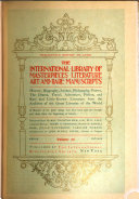 The International Library of Masterpieces  Literature  Art and Rare Manuscripts