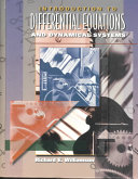 Introduction to Differential Equations and Dynamical Systems Book