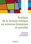Pdf Pratique de la lecture critique en sciences humaines et sociales Telecharger