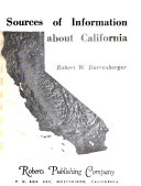 Sources of Information about California Book