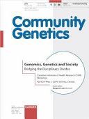 Genomica  Genetics and Society Book