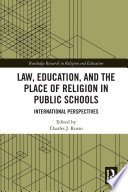 Law Education And The Place Of Religion In Public Schools