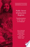 Public Sector Employment Regimes
