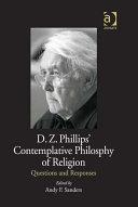 D.Z. Phillips' Contemplative Philosophy of Religion