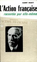 Pdf L'Action française racontée par ellemême Telecharger