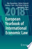 European Yearbook Of International Economic Law 2018