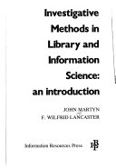 Investigative Methods in Library and Information Science