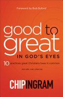 Good to Great in God's Eyes Pdf/ePub eBook