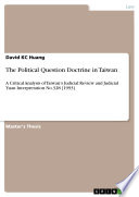 The Political Question Doctrine in Taiwan