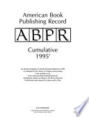 American Book Publishing Record  : ABPR annual cumulative