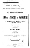 Recueil officiel des tarifs pour le transport des marchandises ...