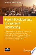 Recent Developments in Pavement Engineering