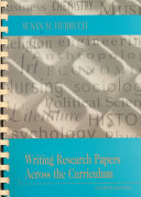 Writing Research Papers Across the Curriculum