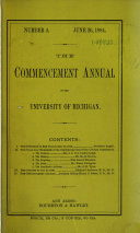 The Commencement Annual of the University of Michigan