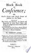 The black book of conscience or  God s high court of justice in the soul of man     The fiftyfifth edition