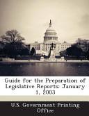 Guide For The Preparation Of Legislative Reports