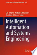 Intelligent Automation And Systems Engineering Book PDF