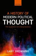 A History of Modern Political Thought Pdf/ePub eBook