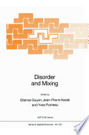 Disorder and Mixing