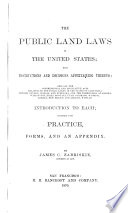 The Public Land Laws of the United States