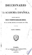 Diccionario de la Academia española  , Band 1
