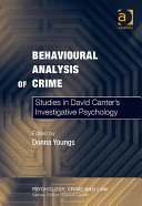 Behavioural Analysis of Crime