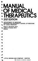 Manual of medical thrapeutics