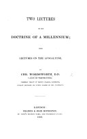 Two lectures on the doctrine of a Millennium. From the Lectures on the Apocalypse ebook