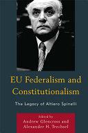EU Federalism and Constitutionalism Pdf/ePub eBook