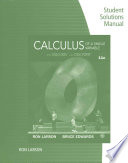 Student Solutions Manual for Larson/Edwards' Calculus of a Single Variable, 11th