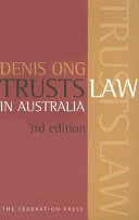Cover of Trusts Law in Australia