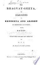 The Bhagvat geeta  Or  Dialogues of Kreeshna and Arjoon Book PDF