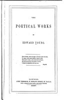The Poetical Works of Edward Young