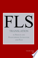 Translation in French and Francophone Literature and Film