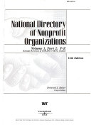 National Directory of Nonprofit Organizations Book