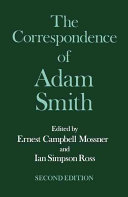 The Glasgow Edition of the Works and Correspondence of Adam Smith  VI  Correspondence