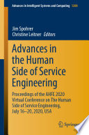 Advances In The Human Side Of Service Engineering