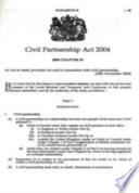 Civil Partnership Act 2004