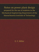 Notes on power plant design