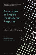 Pedagogies in English for Academic Purposes