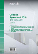 Riba Concise Agreement 2010 (2012 Revision): Architect