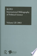 IBSS: Political Science: 2003 Vol. 52