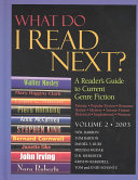 Pdf What Do I Read Next? 2003