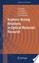 Kramers Kronig Relations in Optical Materials Research