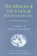 The Mission of the Scholar