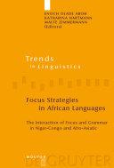 Focus Strategies in African Languages