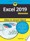 Öffnen Sie das Medium Excel 2019 Alles-In-einem-Band Für Dummies von Harvey, Greg im Bibliothekskatalog