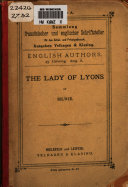 The Lady of Lyons  Or Love and Pride