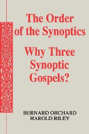 The Order of the Synoptics